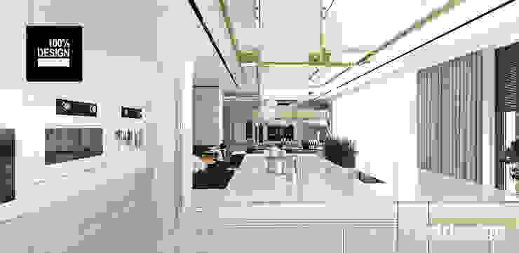 projekt kuchni Eklektyczna kuchnia od ARTDESIGN architektura wnętrz Eklektyczny