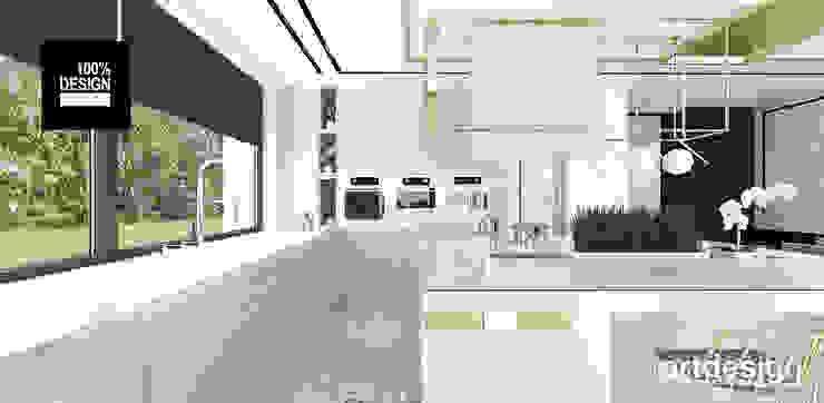 jasna kuchnia Eklektyczna kuchnia od ARTDESIGN architektura wnętrz Eklektyczny