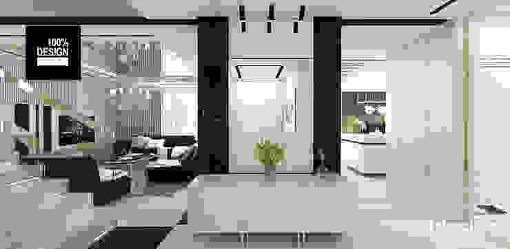 eleganckie wnętrze domu - hol Eklektyczny korytarz, przedpokój i schody od ARTDESIGN architektura wnętrz Eklektyczny