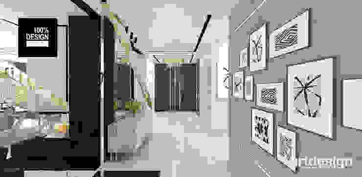 projekt holu Eklektyczny korytarz, przedpokój i schody od ARTDESIGN architektura wnętrz Eklektyczny