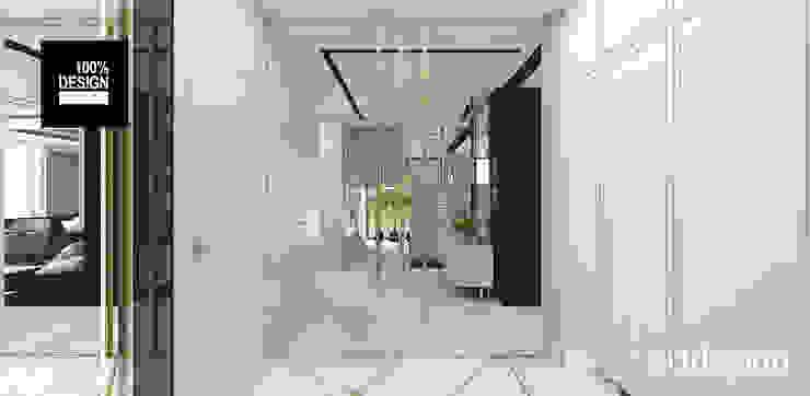 hol i wiatrołap Eklektyczny korytarz, przedpokój i schody od ARTDESIGN architektura wnętrz Eklektyczny