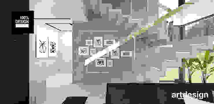 projekt schodów dywanowych od ARTDESIGN architektura wnętrz Eklektyczny