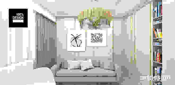 pokój gościnny/gabinet Eklektyczne domowe biuro i gabinet od ARTDESIGN architektura wnętrz Eklektyczny