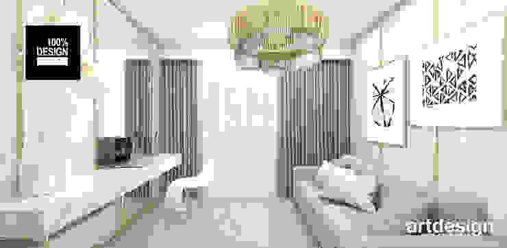 elegancki gabinet w domu Eklektyczne domowe biuro i gabinet od ARTDESIGN architektura wnętrz Eklektyczny