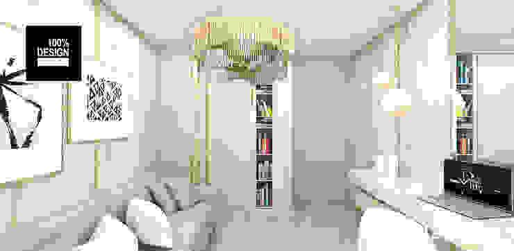 jasna aranżacja wnętrza Eklektyczne domowe biuro i gabinet od ARTDESIGN architektura wnętrz Eklektyczny