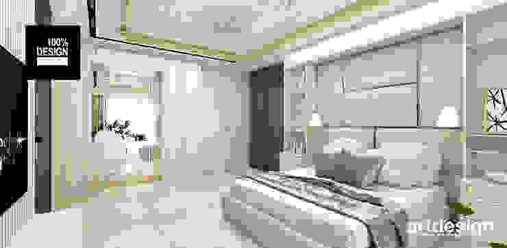piękna sypialnia Eklektyczna sypialnia od ARTDESIGN architektura wnętrz Eklektyczny