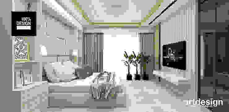 projekt sypialnia Eklektyczna sypialnia od ARTDESIGN architektura wnętrz Eklektyczny