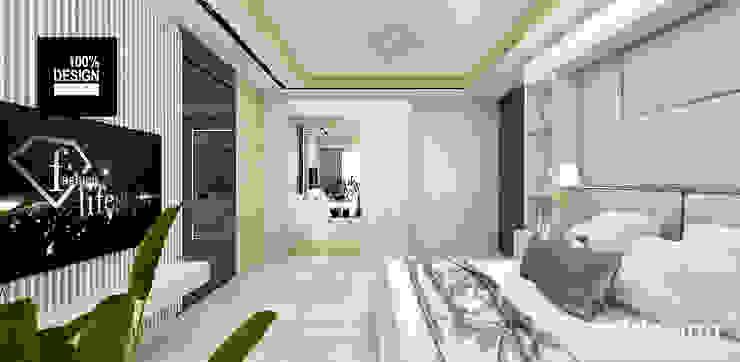 aranżacja sypialni Eklektyczna sypialnia od ARTDESIGN architektura wnętrz Eklektyczny