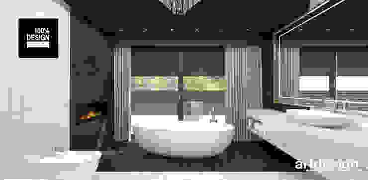 aranżacja pokoju kąpielowego Eklektyczna łazienka od ARTDESIGN architektura wnętrz Eklektyczny