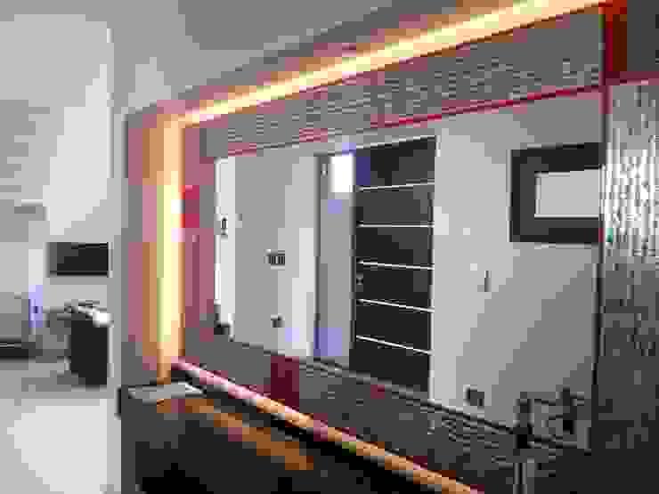 Vivienda en Urbanizacion Privada – Yerba Buena Tucuman Pasillos, vestíbulos y escaleras modernos de Alejandro Acevedo - Arquitectura Moderno Cobre/Bronce/Latón