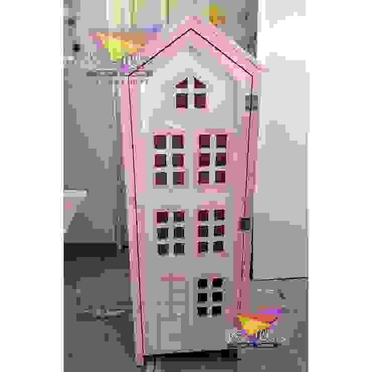 Juguetero de casita de camas y literas infantiles kids world Clásico Derivados de madera Transparente