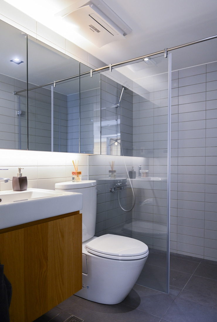 乾溼分離的衛浴 Modern Bathroom by 直方設計有限公司 Modern