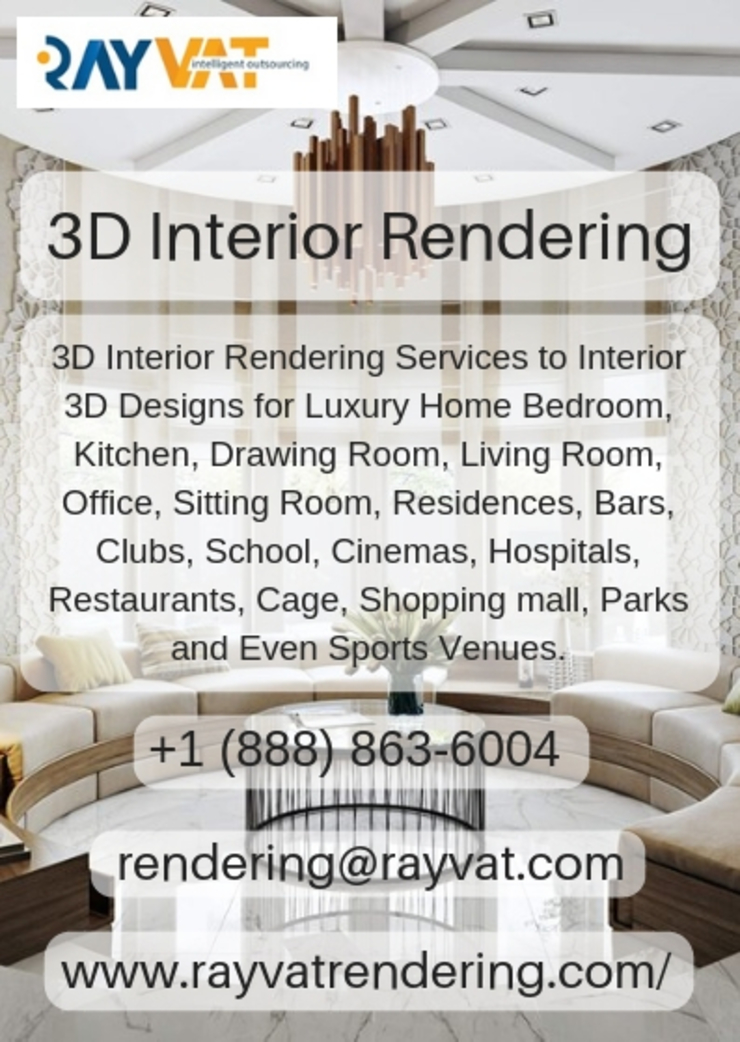 3D Interior Home Design Services by Rayvat Rendering Studio