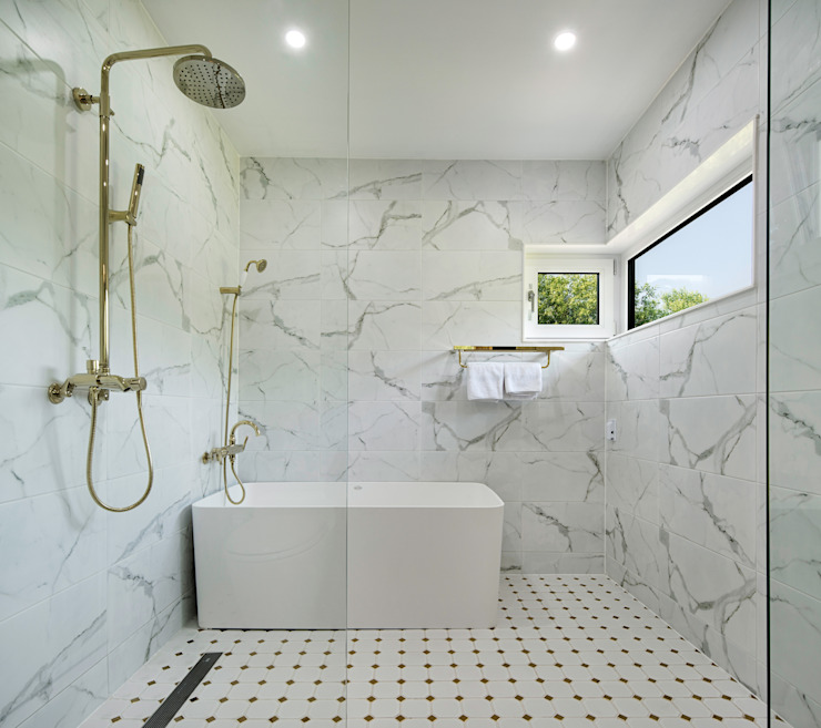 Modern bathroom by (주)건축사사무소 더함 / ThEPLus Architects Modern