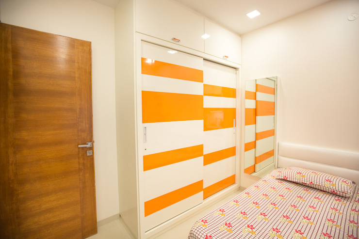 Residence at Borivali Asian style bedroom by The 7th Corner - Interior Designer Asian