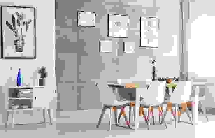 Projekty,  Jadalnia zaprojektowane przez Loft Design System Deutschland - Wandpaneele aus Bayern,