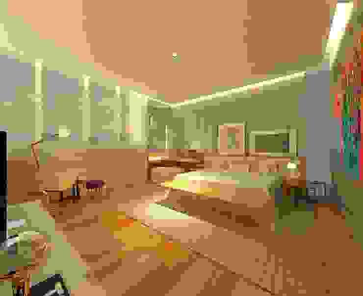 Casa Moderna - Suite Master Casas modernas por ARUS Associados Ltda. Moderno Ferro/Aço