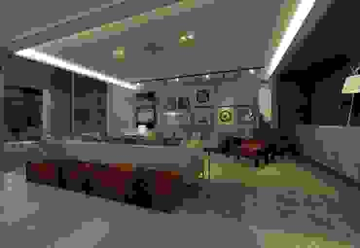 Casa Moderna - Sala de Estar por ARUS Associados Ltda. Moderno Ferro/Aço