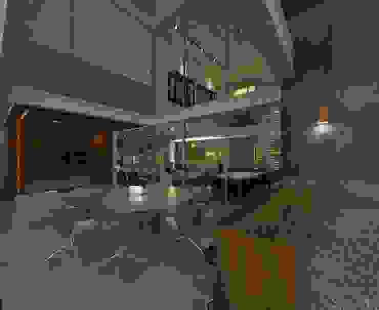 Casa Moderna - Área Gourmet por ARUS Associados Ltda. Moderno Ferro/Aço