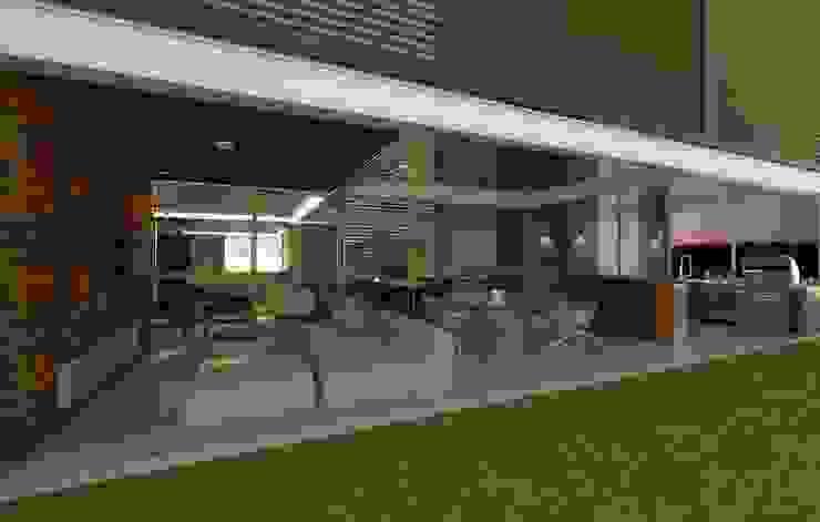 Casa Moderna - Varanda por ARUS Associados Ltda. Moderno Ferro/Aço