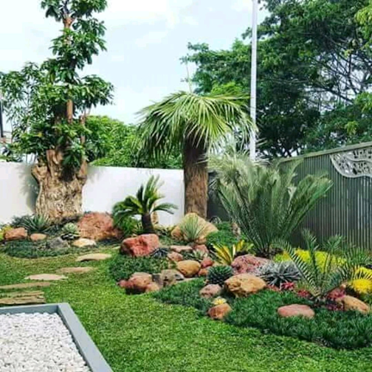 PEMBORONG TAMAN SURABAYA Oleh Tukang Taman Surabaya - Tianggadha-art Tropis Batu