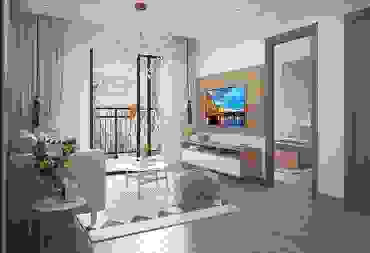Nội thất phòng khách hiện đại bởi Công ty TNHH Nội Thất Mạnh Hệ Hiện đại