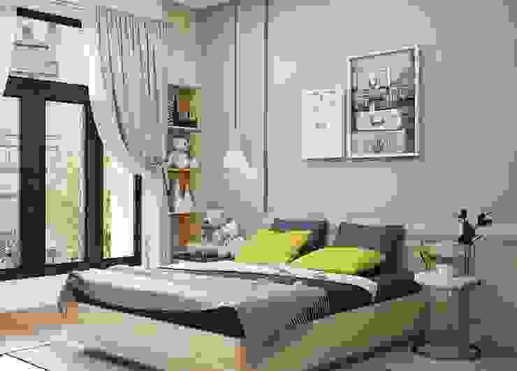 Không gian phòng ngủ master Phòng ngủ phong cách hiện đại bởi Công ty TNHH Nội Thất Mạnh Hệ Hiện đại