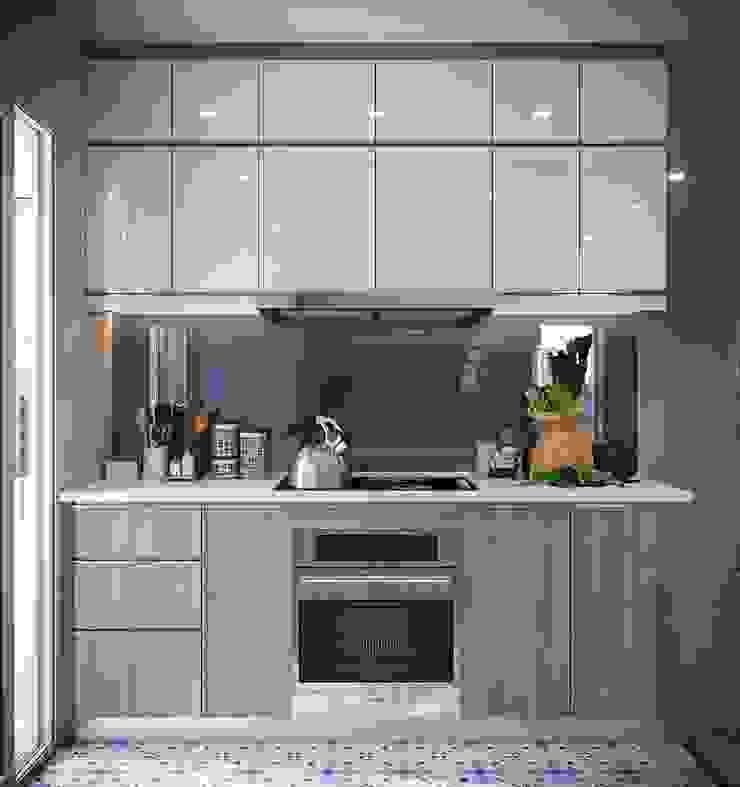 hệ thống tủ bếp sang trọng và hiện đại Nhà bếp phong cách hiện đại bởi Công ty TNHH Nội Thất Mạnh Hệ Hiện đại