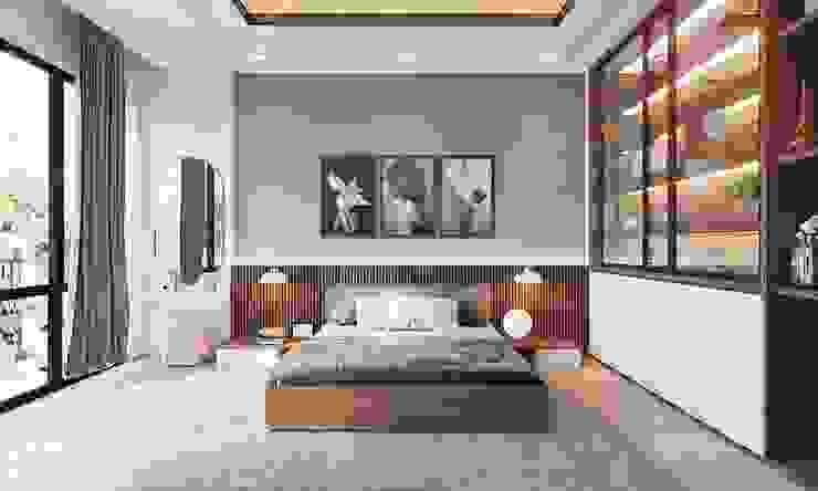 Nội thất phòng ngủ master khá rộng rãi và thoáng đãng Phòng ngủ phong cách hiện đại bởi Công ty TNHH Nội Thất Mạnh Hệ Hiện đại