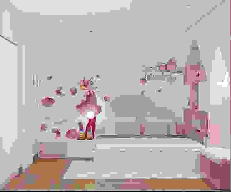 Nội thất phòng ngủ nhỏ màu hồng bởi Công ty TNHH Nội Thất Mạnh Hệ Hiện đại