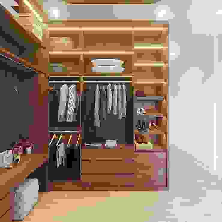 Không gian phòng thay đồ sang trọng và đẳng cấp Phòng thay đồ phong cách hiện đại bởi Công ty TNHH Nội Thất Mạnh Hệ Hiện đại