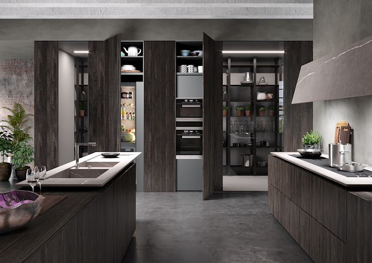 Cucina in ambiente industriale:  in stile industriale di Nespoli 3d, Industrial