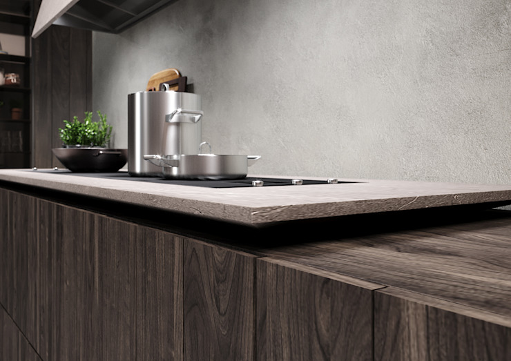 Cucina in ambiente industriale Nespoli 3d CucinaContenitori & Dispense
