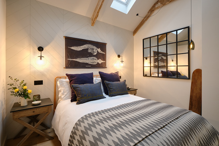The Nook, Near Rock | Cornwall Scandinavian style bedroom by Perfect Stays Scandinavian