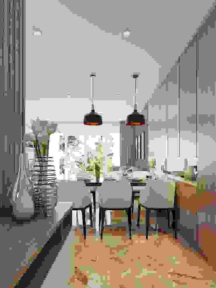 không gian phòng bếp Nhà bếp phong cách hiện đại bởi Công ty TNHH Nội Thất Mạnh Hệ Hiện đại