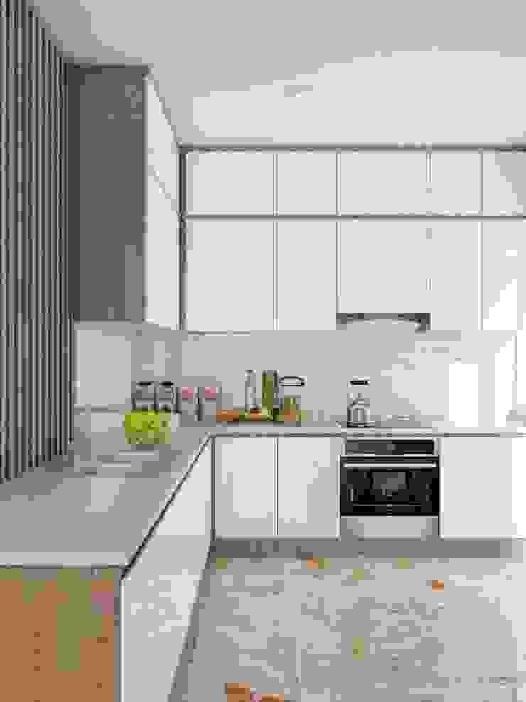 tủ tivi hình chữ L khá sang trọng và đẳng cấp Nhà bếp phong cách hiện đại bởi Công ty TNHH Nội Thất Mạnh Hệ Hiện đại