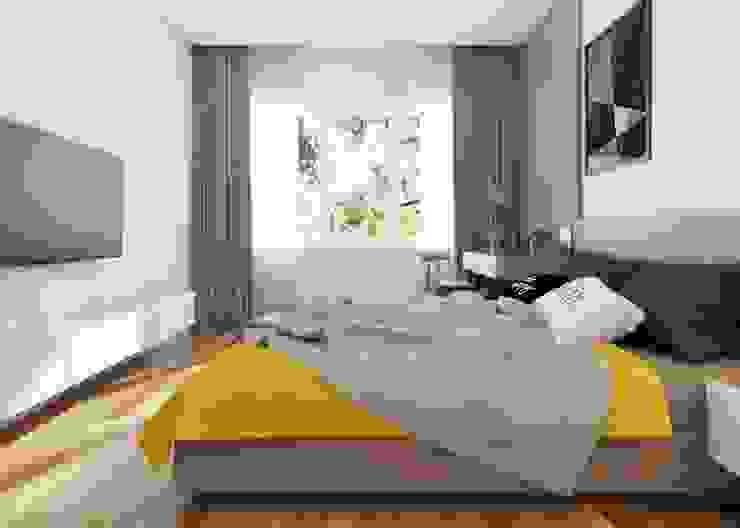 Nội thất phòng ngủ nhỏ:  Phòng ngủ nhỏ by Công ty TNHH Nội Thất Mạnh Hệ