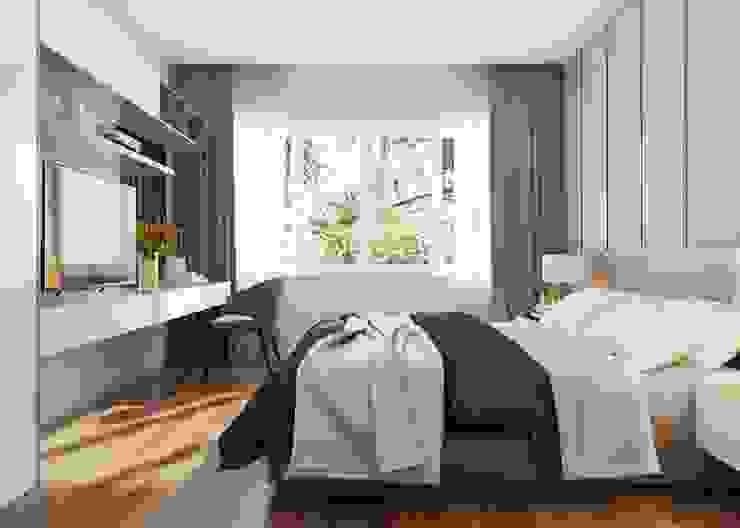 Phòng ngủ master đẳng cấp sang trọng Phòng ngủ phong cách hiện đại bởi Công ty TNHH Nội Thất Mạnh Hệ Hiện đại