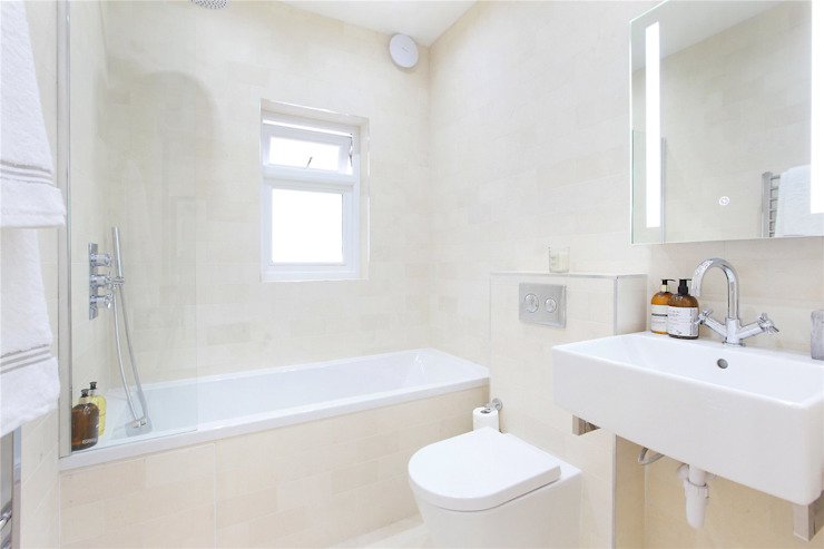 Design and Build London Renovation Modern bathroom Ceramic White
