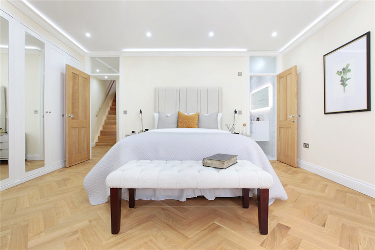 Design and Build London Renovation Modern dressing room Engineered Wood White