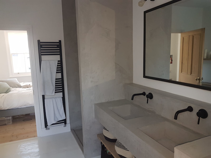 Bespoke House Extension project w4 Modern Bathroom by Design and Build London Renovation Modern