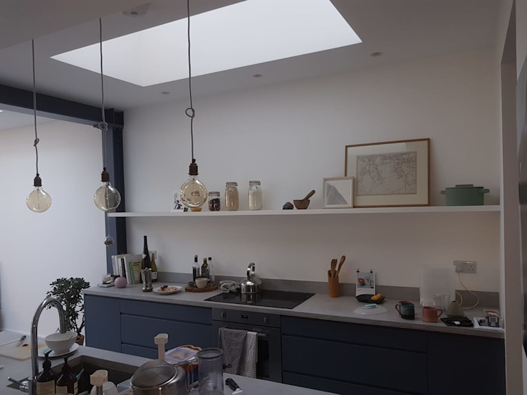 Bespoke House Extension project w4 Design and Build London Renovation Dapur Modern