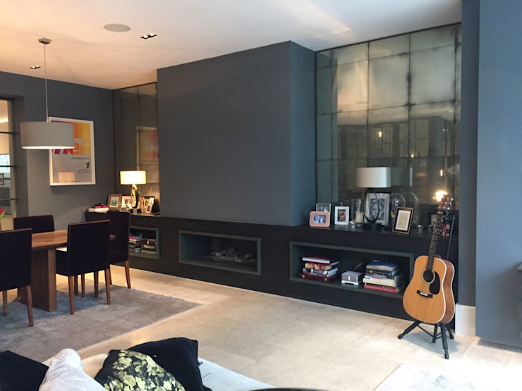 Bespoke House Extension project w4 Modern Living Room by Design and Build London Renovation Modern