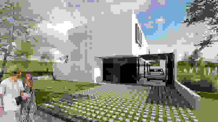 โดย VP Arquitectura โมเดิร์น อิฐหรือดินเผา