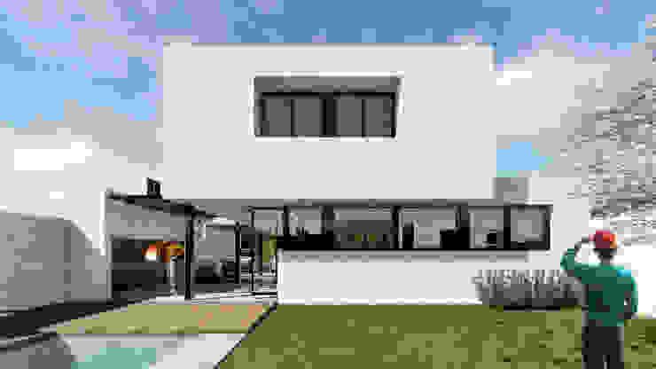Дома в стиле модерн от VP Arquitectura Модерн Кирпичи