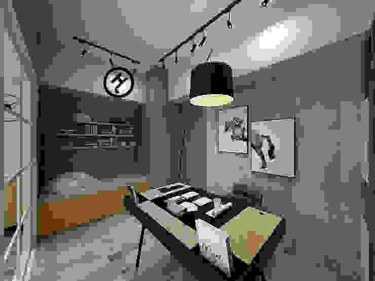 17坪北歐風兩房一廳-完成設計 知森數位開發有限公司 書房/辦公室 塑木複合材料 Green