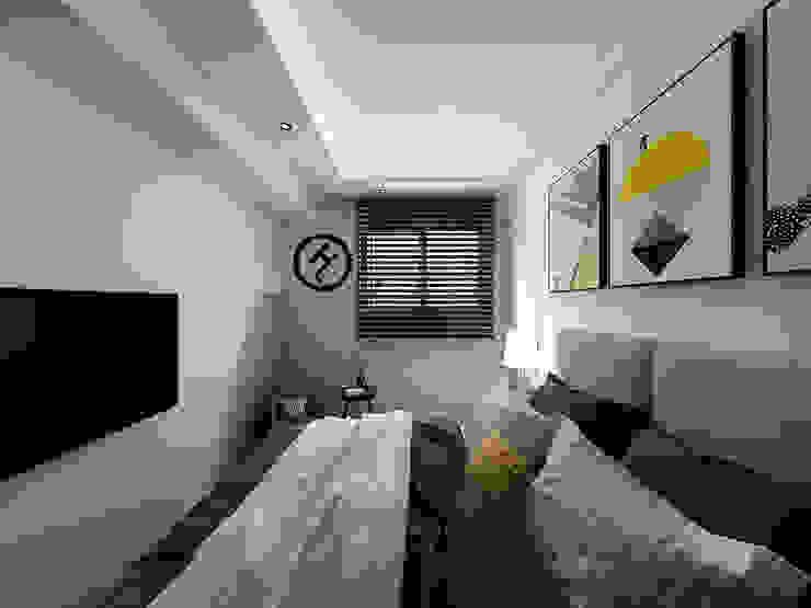 17坪北歐風兩房一廳-完成設計 知森數位開發有限公司 臥室 塑木複合材料 White