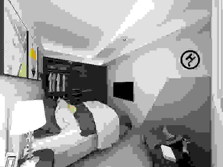 17坪北歐風兩房一廳-完成設計 知森數位開發有限公司 小臥室 塑木複合材料 White