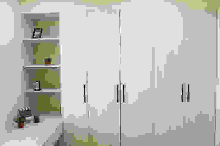 臥室/衣櫥 圓方空間設計 小臥室 合板 White