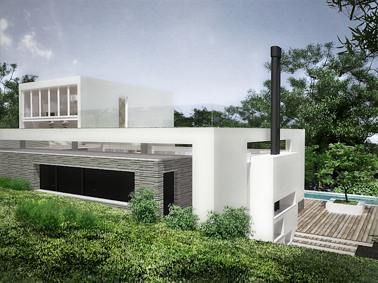 Sonoma Casas de estilo minimalista de RRA Arquitectura Minimalista Piedra